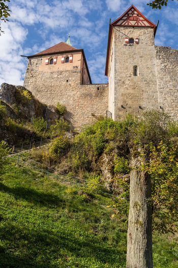 Castle Hohenstein Architecture Building Exterior Built Structure Cloud - Sky Day Grass Green Color History Low Angle View Mountain Nature No People Outdoors Rustic Sky Travel Destinations Tree