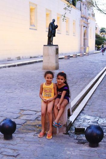 Girls Child Childhood Looking At Camera Portrait Cuba Streets Cuba