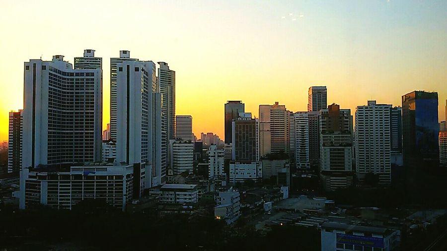 Evening In The City Bangkok Last Light Shade Of Sky Sunset