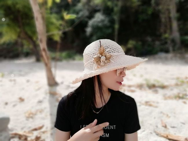 EyeEm Selects Hat Focus On Foreground One Young Woman Only Human Body Part Sand Nature The Fashion Photographer - 2018 EyeEm Awards