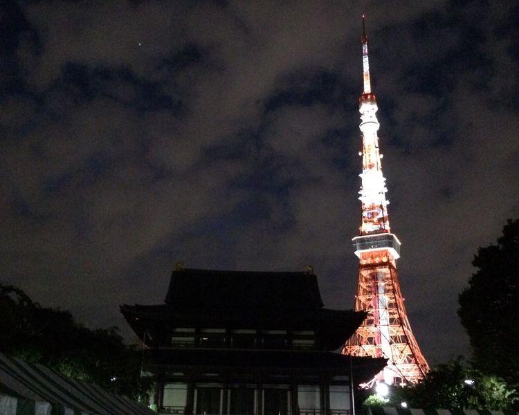 東京タワー 増上寺 Japan Tokyo,Japan Japan Photography iPhoneで撮影