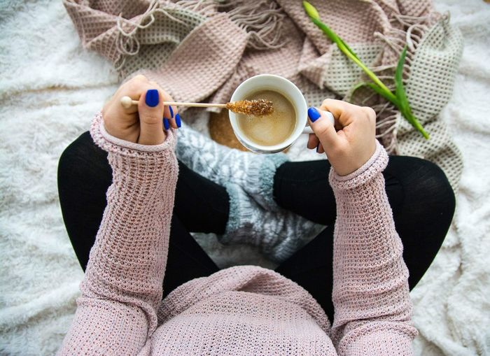 coffee Coffee Time Coffee Break Goodmorning :) Morning Mood Cozy Swiss Moments Of Life EyeEm Selects Human Hand Knitting Needle Wool Skill  Women Sock Homemade Ball Of Wool Knitting Holding