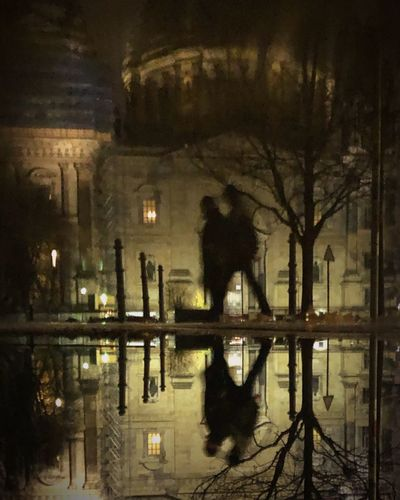 Reflection Water Architecture Night Built Structure Building Exterior Illuminated Silhouette Standing Water