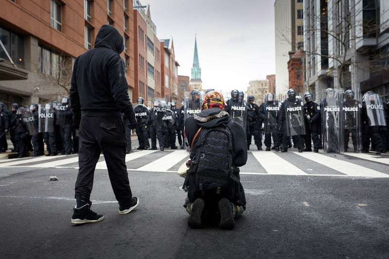 Protesters during the inauguration of President trump in Washington D.C Inauguration Trump Peaceful Protest Police Force Protest Anti Trump Anti Trump Protester Anti Trump Protestor Demonstration Inauguration Washington D.C Inauguration Day Inauguration Protest Police Police Force Riot Riot Police Smoke And Riot Trump Protest Trump Protest Washington D.C