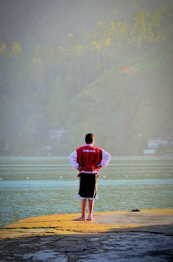 RePicture Travel My Cousin in Toba Lake Cousin Toba Lake Morning View