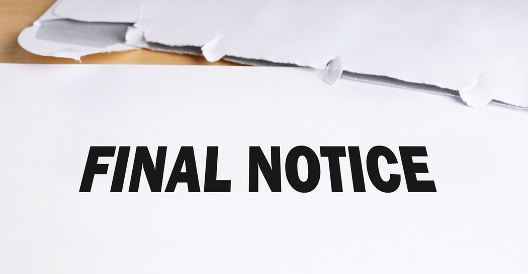 Business Close-up Dunning Envelope Final Final Notice Finance Letter Notice Office Open Overdue Reminder