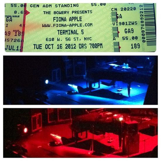 Fionaapple was Amazing Music Concert Girl IGDaily Terminal5 Bowery NYC Manhattan Piano Stage