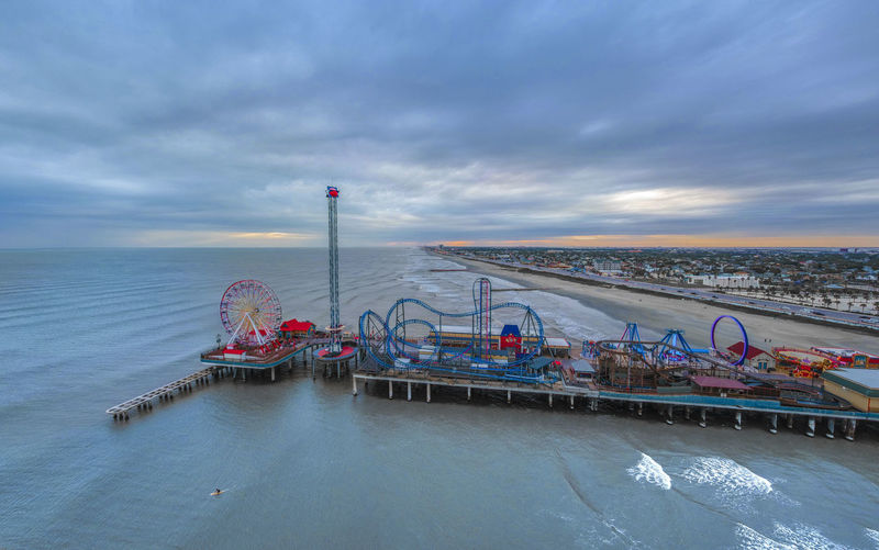 Drone  Texas Architecture Built Structure Cloud - Sky Day Dronephotography Galveston Horizon Over Water Industry Nature No People Outdoors Sea Sky Water
