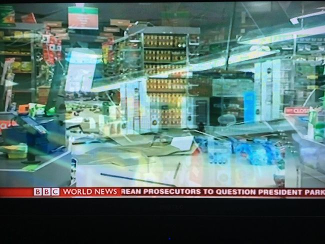 No People earthquake aftermath in store New Zealand destroyer in action World trouble