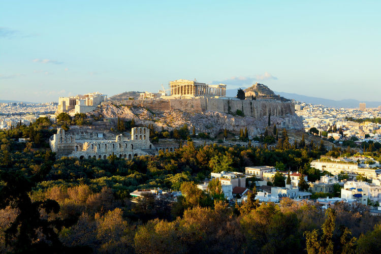 Scenic view of acropolis