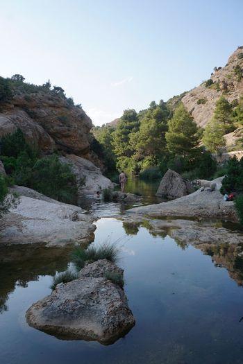Els Estrets Horta De Sant Joan Estiu Bayn Riu Water Sky Reflection Tree Plant Beauty In Nature Scenics - Nature