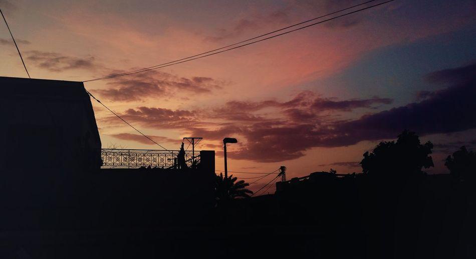 Found On The Roll Sunrise Relaxing Enjoying Life City Street Dramatic Sky Red Sky Nature Bautiful Walking Around Morning Early Morning Mobilephotography PhonePhotography Sidi Bou Said Sidi Bou Said Tunisia Tunis