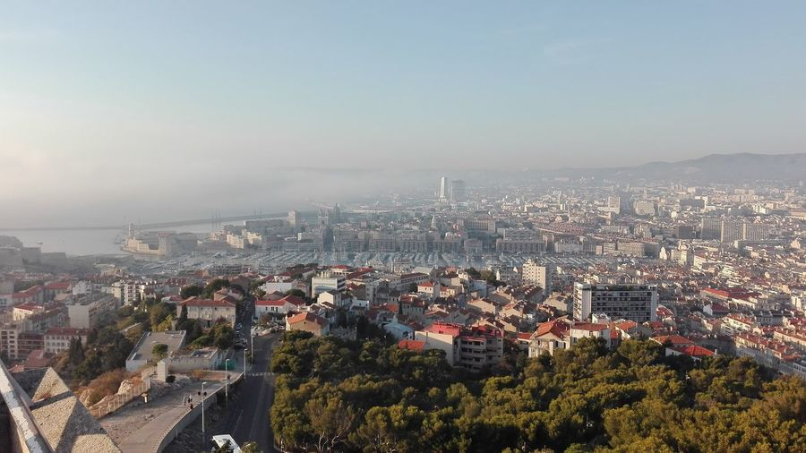Stunning view all over Marseille, France Aerial View Cityscape Outdoors Sky Urban Skyline City Marseille, France
