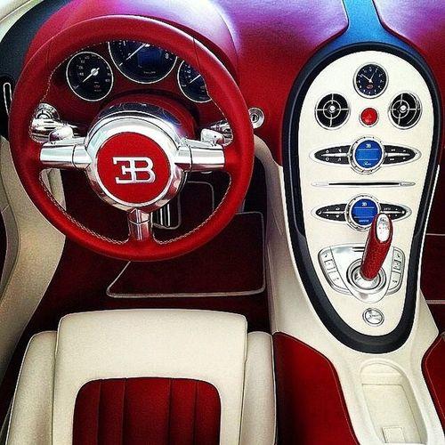 I just love red interiors! Bugatti Luxury Carporn Cars Entrepreneur Losangeles Newyork Miami Millionaire Lavishliving Fashion Style London Paris Tokyo Fruitsoflabor Forbes Fastcars