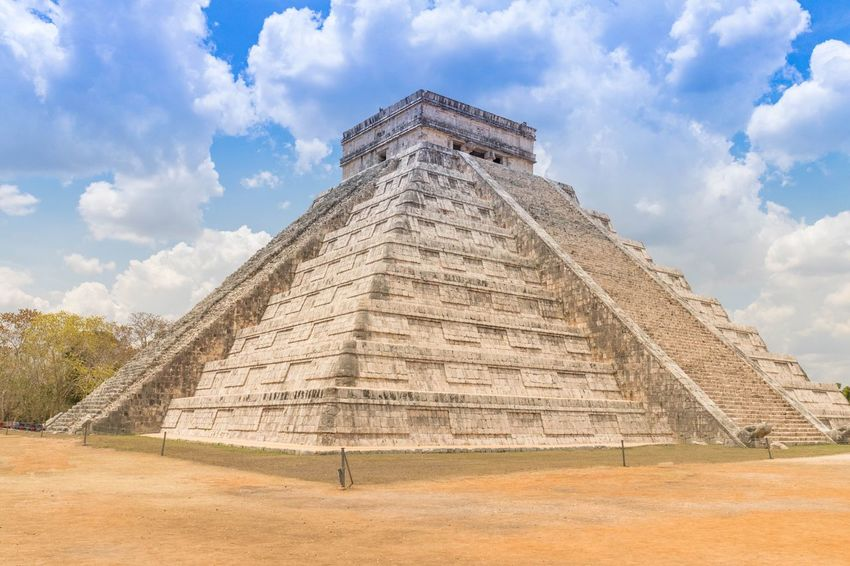 Chitzen Itza History The Past Ancient Civilization Pyramid Archaeology Ancient Travel Destinations Sky Architecture Cloud - Sky Old Ruin Built Structure Travel Tourism Day Building Exterior Vacations Outdoors No People