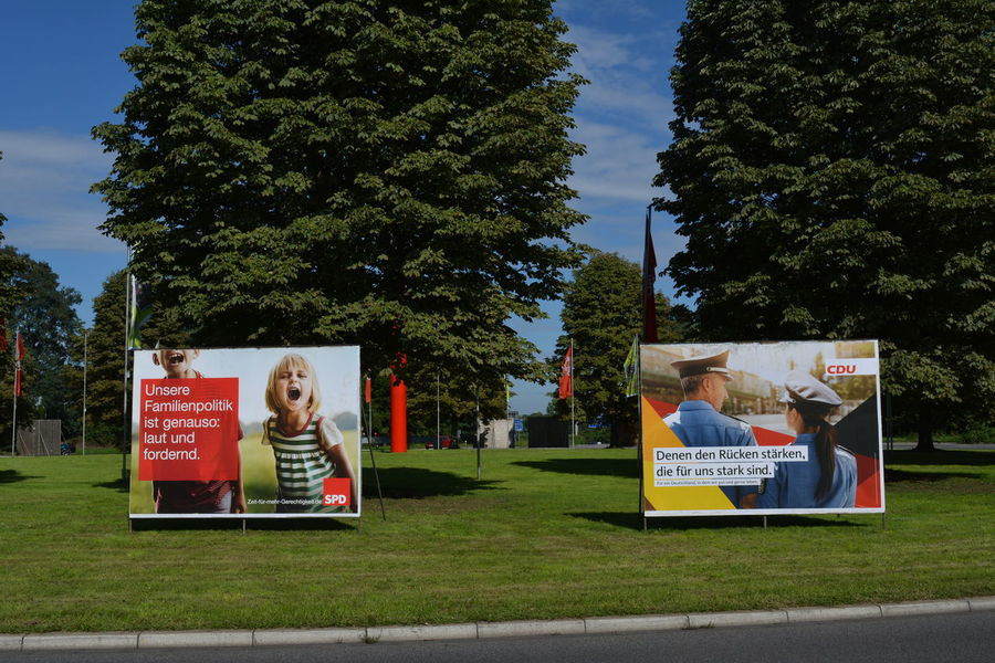 Election Posters Day Election 2017 Election Poster Friendship Germany Outdoors People Text Togetherness