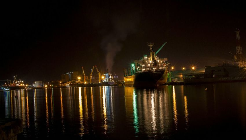 Nightphotography Nightshot Sailing Sailboat Port-louis Night Lights Darkness And Light