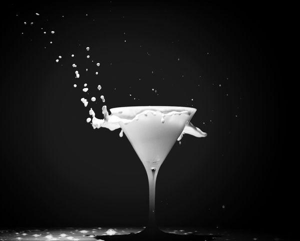Milk Still Life Black & White Beautiful