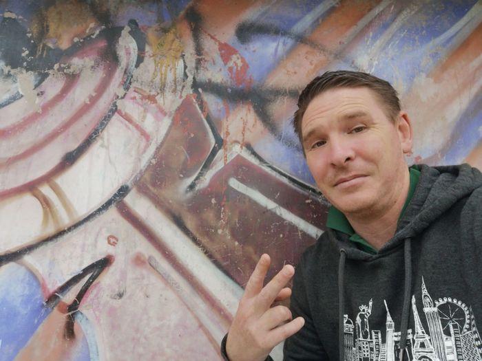 Urban warrior Gangsters Paradise Banbury, England Urban Urbanphotography EyeEm Selects Portrait Men Artist Headshot Street Art Multi Colored Graffiti Creativity Close-up Spray Paint Mural EyeEmNewHere