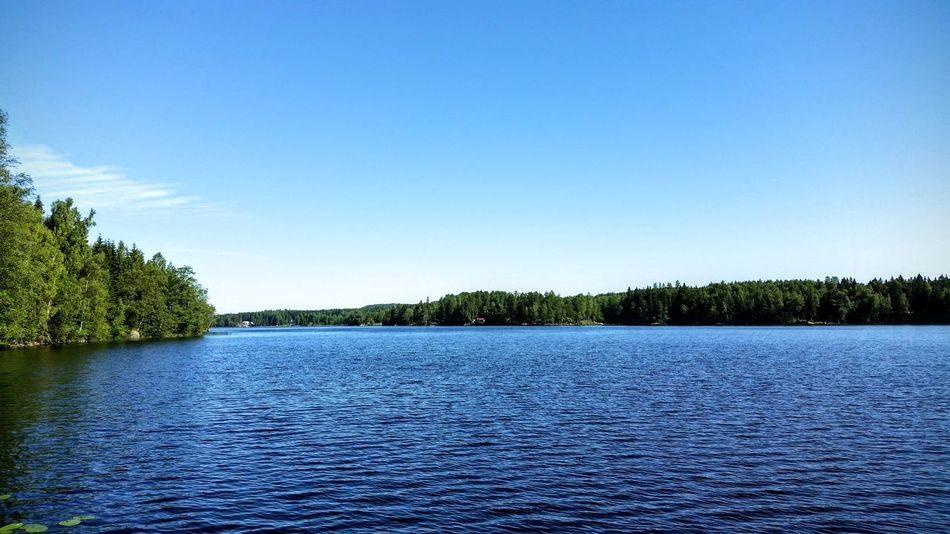 Sweden Värmland Filipstad Water Nature Blue Tree Lake Sky Clear Sky Outdoors Landscape Beauty In Nature