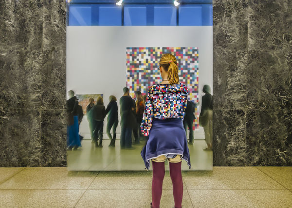 Homage a Gerhard Richter Admiration Art ArtWork Canvas Casual Clothing Cloth Clothing Composition Digital Art Exhibition Gerhard Richter Leisure Activity Lifestyles Museum Oil Painting Person Photomontage Real People Young Adult Young Women