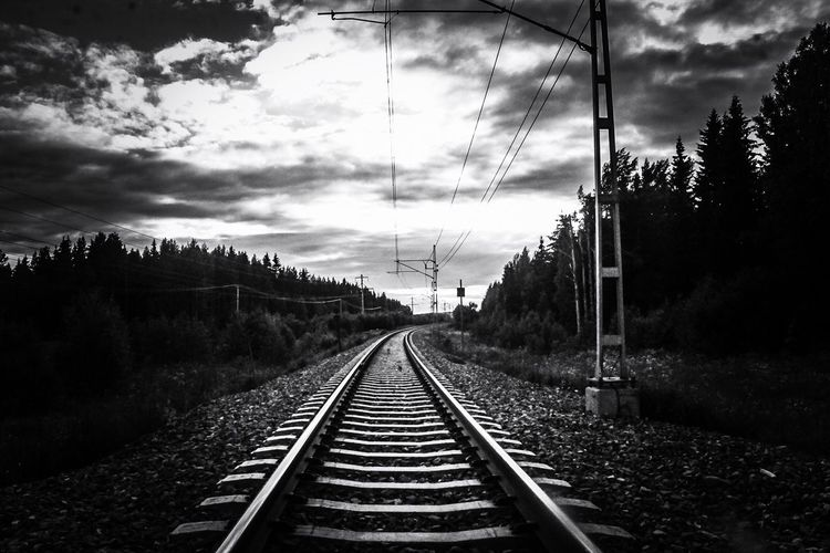Road to no where. Eyemphotography Railway Railroad Eyem Best Shots Monochrome Blackandwhite Nature Landscape EyeEm Photographer Photography OpenEdit Canon Sweden World Earth Photooftheday EyeEm Gallery