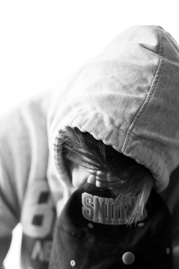 Black And White Photography Body Part Cap Casual Clothing Child Close-up Clothing Communication Focus On Foreground Hand On Face Headshot Holding Human Body Part Human Hand Indoors  Men Obscured Face One Person Teen Text Unrecognizable Person Western Script This Is Strength