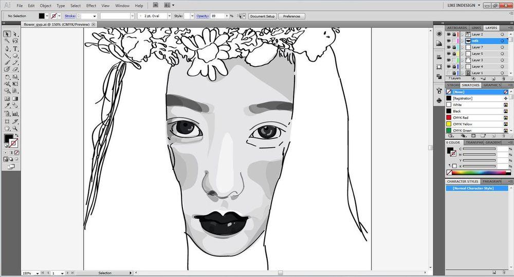 30% ทำครึ่งเดียวอีกครึ่งทำไม่เป็นละเห้ย Illustrator Art Drafts Draw