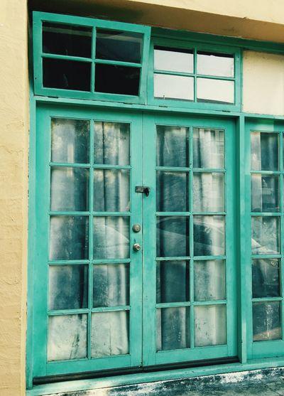Vintage Doors Doors Doorsandwindows Windows Fabric Window Covering Blue Retro Retro Style Retro Doors Blue Doors Door Architecture Window Curtains Building Detail Wooden Door Frame Frame