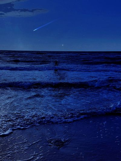 Sea Astronomy Space Horizon Over Water Beauty In Nature Star - Space Constellation Night Distant Scenics Nature Astrology Sign Sky Clear Sky Exploration Moon Awe Blue Landscape Outdoors Germany🇩🇪 Nacht Fotografie Samsung Galaxy S7 Ostsee, Deutschland, Meer, Rügen, Freiheit, Boot, Himmel, Sonne Beach