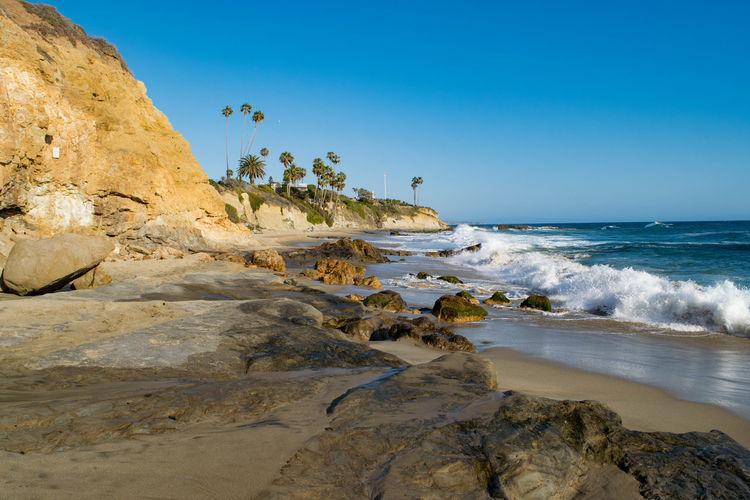 Laguna Beach Beach Blue Sky Beachphotography Waves Crashing On Rocks Waves, Ocean, Nature Ocean Waves Rolling In Big Waves Oceanspray Waves Crashing Waves Crashing Sky Waves And Rocks Spray The KIOMI Collection