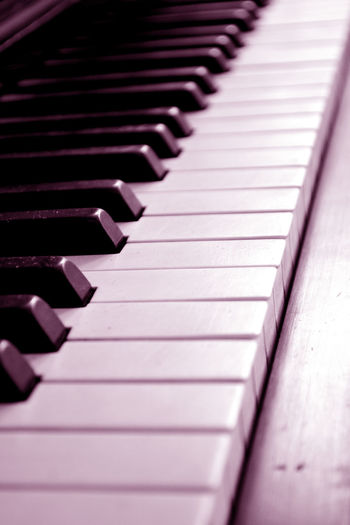 Piano Keys In Pink Color