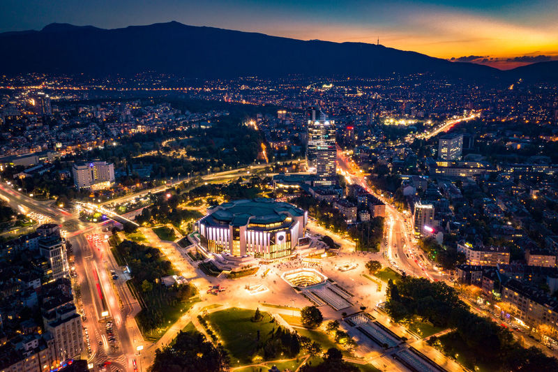Sofia tonight 2 Eastern Europe Mavic2pro Sofia, Bulgaria Urban Geometry Aerial View Architecture Building Building Exterior Built Structure Bulgaria City City Life Cityscape Crowded Dronephotography High Angle View Illuminated Mountain Night Office Building Exterior Outdoors Residential District Sky Urban Skyline Wide Angle