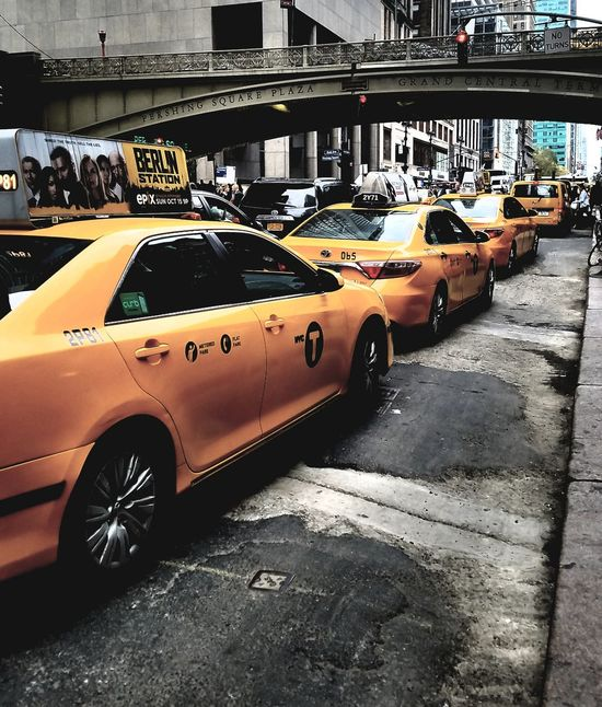 Car Transportation Yellow Taxi City Paint The Town Yellow Travel Seeing The World New York New York City City Manhattan Mobility In Mega Cities