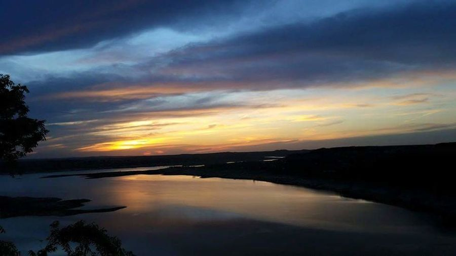 The oasis, lake travis, austin Sunset Reflection Dramatic Sky Lake Beauty In Nature Lake Travis ATx Austin