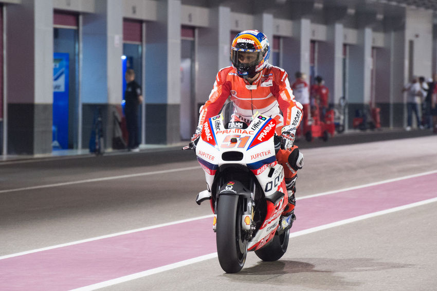 MotoGP riders during the final preseason test before the start of the 2016 MotoGP season Losail LosailCircuit Motogp MotoGP2016 Motorcycle Motorsports Preseason Qatar Race Racing Test