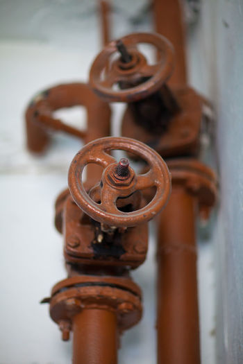 Close-up of metal pipe