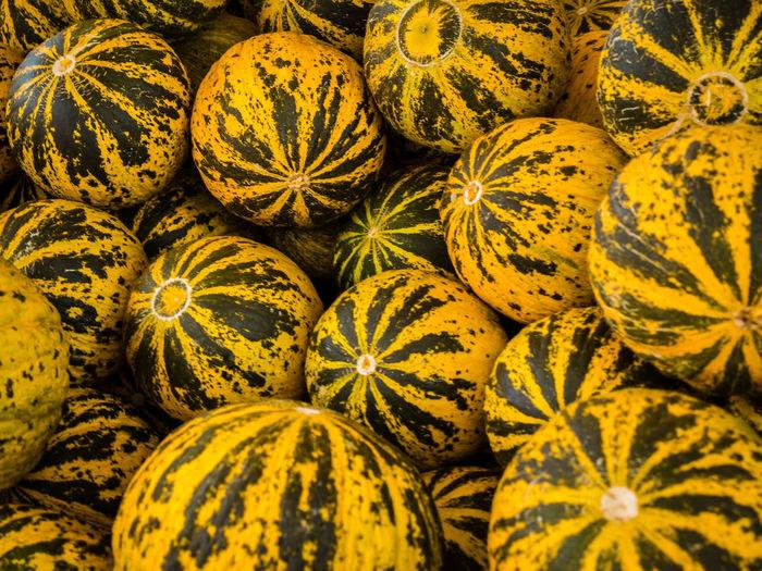 Full frame shot of gourd in market