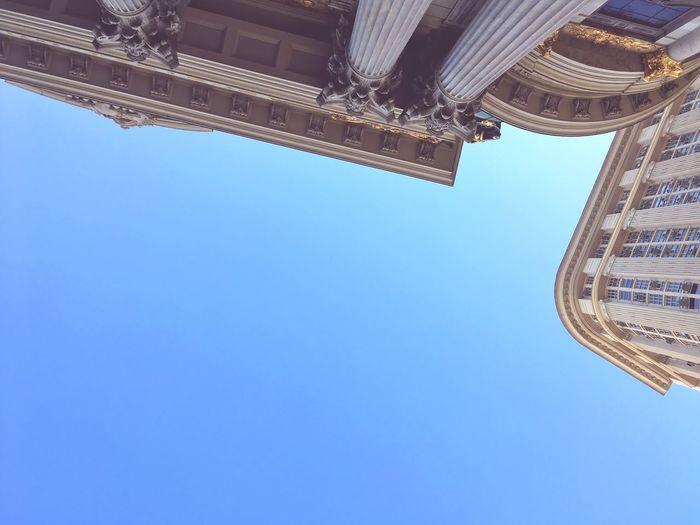 Rio City Sky Low Angle View Clear Sky Blue Built Structure Architecture The Architect - 2019 EyeEm Awards Building Exterior Copy Space No People Building Day Travel Destinations Nature Outdoors Tall - High Belief Directly Below City Tourism