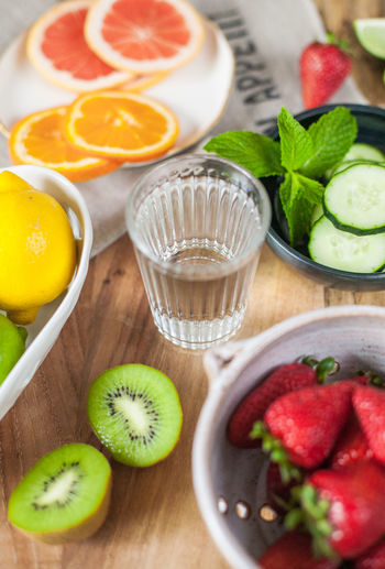 Citrus  Cucumber Hydration Orange Citrus Fruit Drink Drinking Glass Food Food And Drink Freshness Fruit Grapefruit Healthy Eating Hydrate  Indoors  Infused Water Kiwi Lime No People Ready-to-eat SLICE Smoothie Strawberry Water