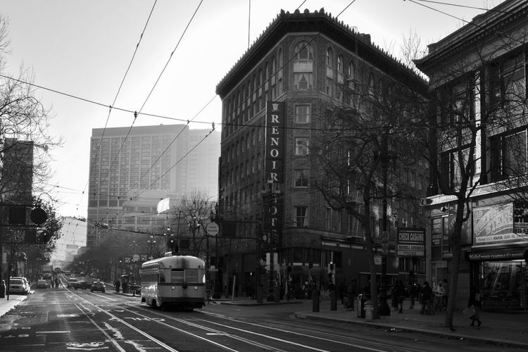 City Street Street Light Cable Car Streetphotography Blackandwhite Nikon