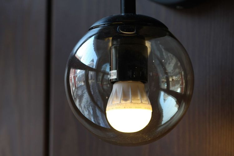 Close-up Lighting Equipment Indoors  No People Glass - Material Hanging Food And Drink Table Illuminated Household Equipment Geometric Shape Drinking Glass Glass Day Still Life Shape Electricity  Circle Single Object Light Bulb