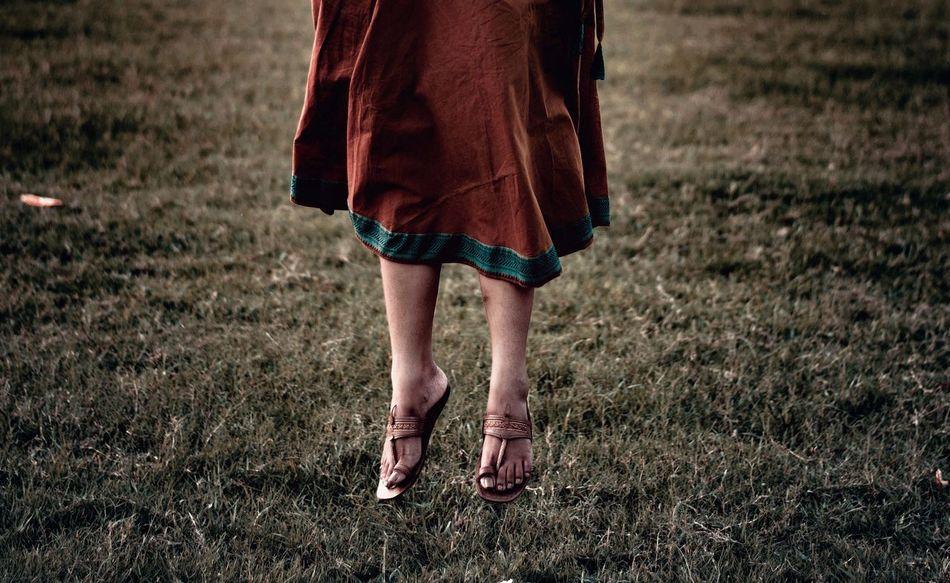 Beautiful EyeEm Best Shots EyeEm Gallery Jumping Shot MaidanDiaries Calcuttadiaries Field Grass Human Leg Low Section Walking