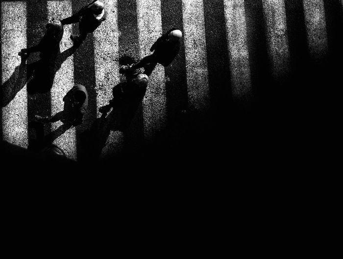 Shadow of people on wall