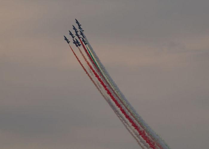 Acrobatics  Airplane Frecce Tricolori Italian Flag Italy Planes