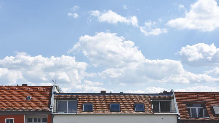 Berlin Berliner Ansichten Blue Blue Sky Clouds And Sky Roof Roof Sky White