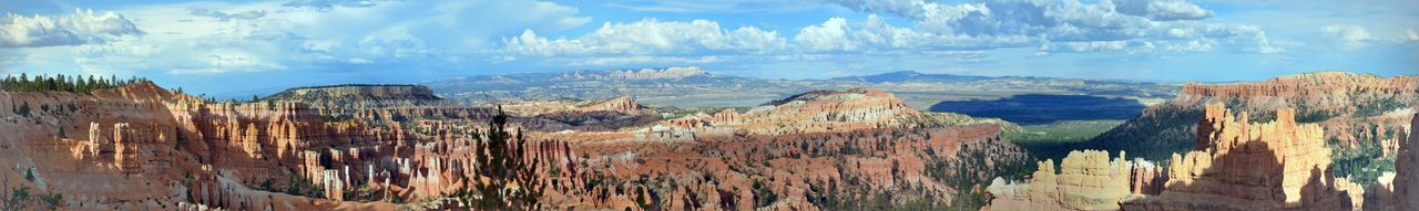 Bryce Canyon National Park Beauty In Nature Blue Bryce Canyon Bryce Canyon National Park Cloud Cloud - Sky Geology Idyllic Landscape Mountain Nature Non-urban Scene Panoramic Physical Geography Rock - Object Rock Formation Rocky Mountains Scenics Sky Tranquil Scene Tranquility Travel Destinations