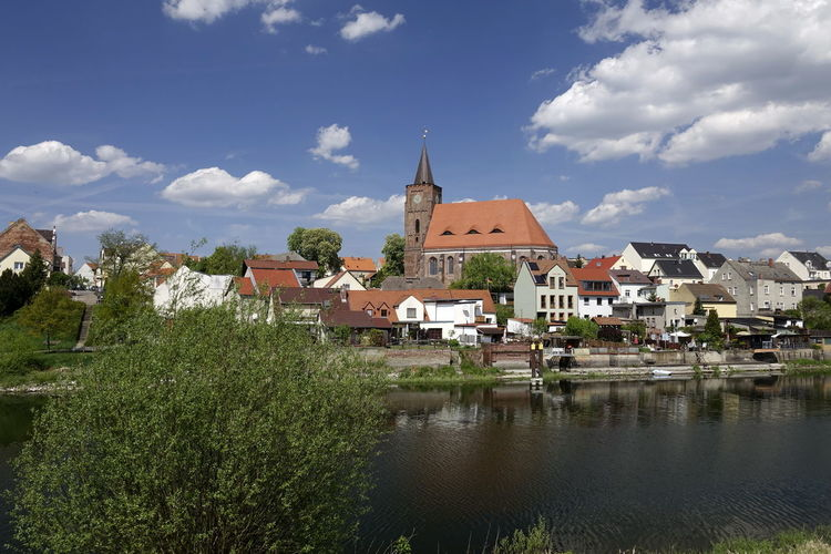 Altstadt Fürstenberg Architecture Building Building Exterior Built Structure City Cloud - Sky Day House Nature No People Outdoors Place Of Worship Plant Religion Residential District River Sky TOWNSCAPE Tree Water