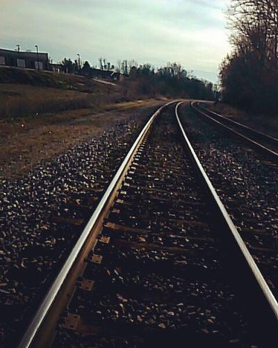 Railroad Traintracks . Downtown Martinsburg WV