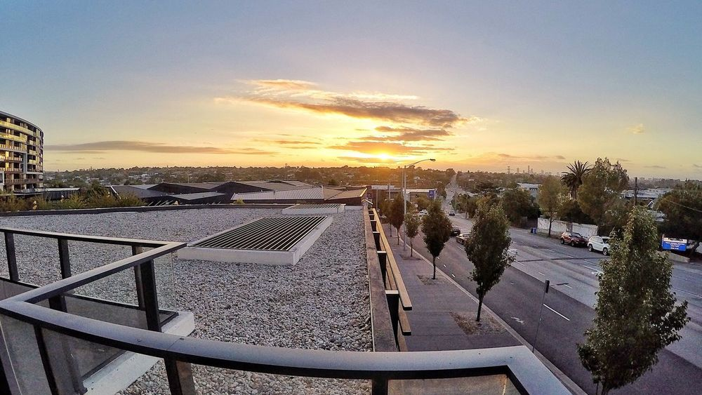 Sunset from my balcony... What a great way to end the day... Enjoying Life Melbourne GoPro Hero 4 EyeEm Best Shots Street Photography Sunset Scenery